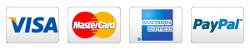 I accept Visa, MasterCard, American Express, and PayPal